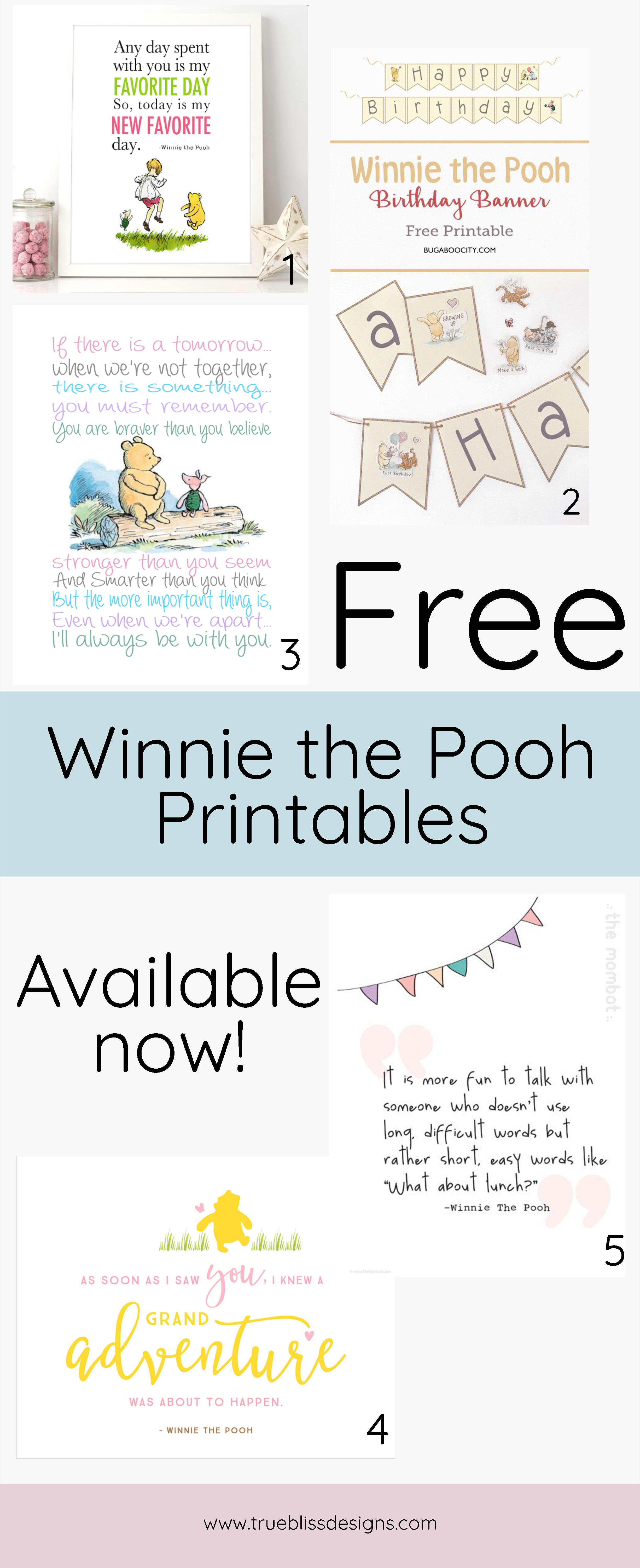 This is a picture of Inventive Winnie the Pooh Free Printables